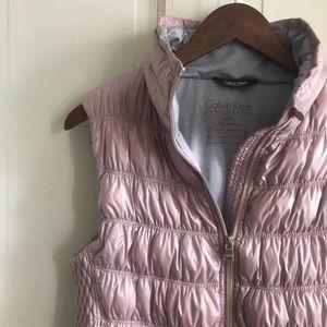 Calvin Klein Puffer Vest, Pink Puffer Vest